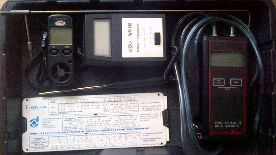 Измервателни уреди за индустриална филтрация