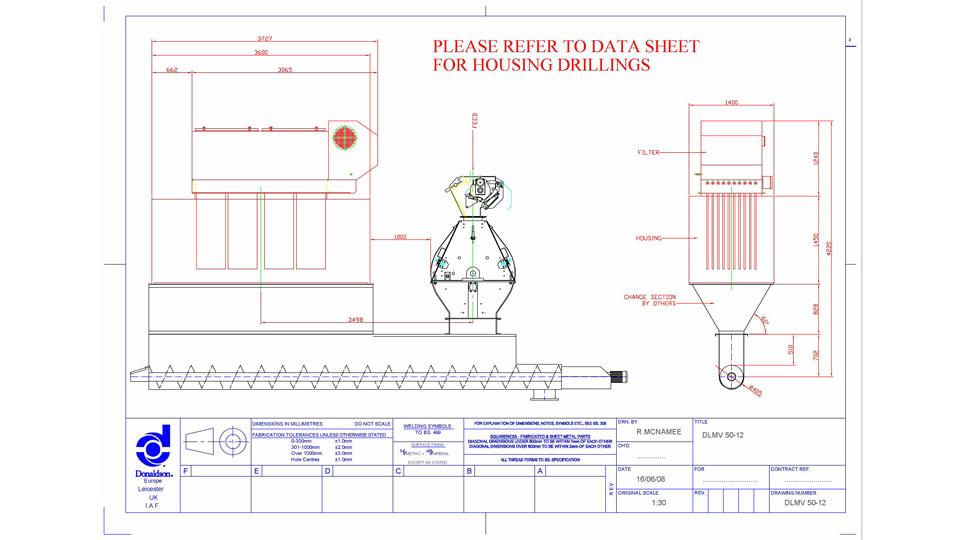 чертеж за индустриална филтрация